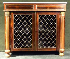 Regency Brass Mounted Rosewood and Parcel Gilt Side Cabinet - 273366