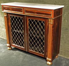 Regency Brass Mounted Rosewood and Parcel Gilt Side Cabinet - 273368