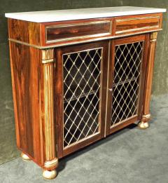 Regency Brass Mounted Rosewood and Parcel Gilt Side Cabinet - 273369