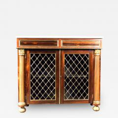 Regency Brass Mounted Rosewood and Parcel Gilt Side Cabinet - 274460