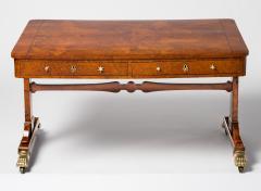 Regency Burr Elm Library Table - 290323