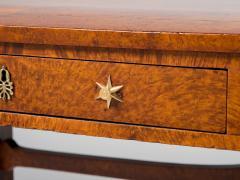 Regency Burr Elm Library Table - 290329