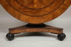 Regency Burr Oak and Ebony Centre Table - 622063