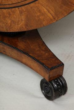 Regency Burr Oak and Ebony Centre Table - 622066