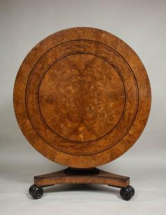 Regency Burr Oak and Ebony Centre Table - 622067