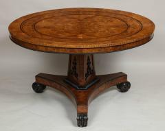 Regency Burr Oak and Ebony Centre Table - 622069