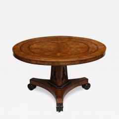 Regency Burr Oak and Ebony Centre Table - 624016