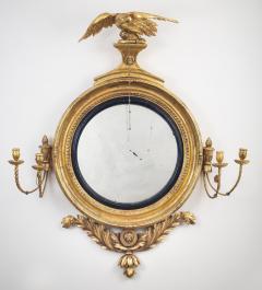 Regency Classical Gilt Convex Girandole Mirror - 976156