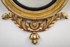 Regency Classical Gilt Convex Girandole Mirror - 976164
