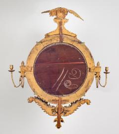 Regency Classical Gilt Convex Girandole Mirror - 976165