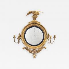 Regency Classical Gilt Convex Girandole Mirror - 976756