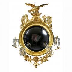Regency Giltwood Convex Girandole Mirror - 1568046