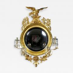 Regency Giltwood Convex Girandole Mirror - 1568965