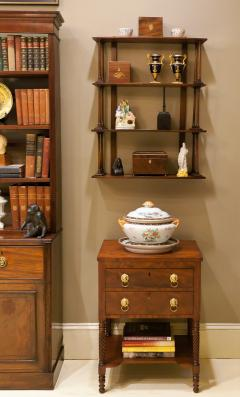 Regency Mahogany Hanging Shelves England Circa 1810 - 1794207