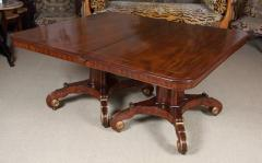 Regency Mahogany and Brass Inlaid Parcel Gilt Dining Table - 1557679