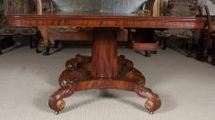Regency Mahogany and Brass Inlaid Parcel Gilt Dining Table - 1557681