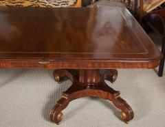 Regency Mahogany and Brass Inlaid Parcel Gilt Dining Table - 1557682
