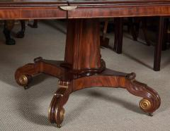 Regency Mahogany and Brass Inlaid Parcel Gilt Dining Table - 1557683