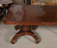 Regency Mahogany and Brass Inlaid Parcel Gilt Dining Table - 1557685