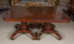 Regency Mahogany and Brass Inlaid Parcel Gilt Dining Table - 1557694