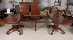 Regency Mahogany and Brass Inlaid Parcel Gilt Dining Table - 1557695