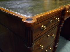 Regency Mahogany and Ebony Inlaid Pedestal Desk - 248268