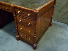 Regency Mahogany and Ebony Inlaid Pedestal Desk - 248269