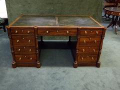 Regency Mahogany and Ebony Inlaid Pedestal Desk - 248272