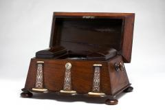 Regency Mother of Pearl Inlaid Rosewood Tea Chest - 1908888