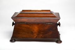 Regency Mother of Pearl Inlaid Rosewood Tea Chest - 1908890