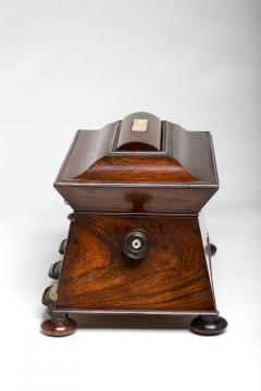 Regency Mother of Pearl Inlaid Rosewood Tea Chest - 1908891