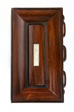 Regency Mother of Pearl Inlaid Rosewood Tea Chest - 1908892