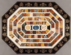 Regency Period Ebony and Gilt Table with Italian Specimen Marble Top - 618304