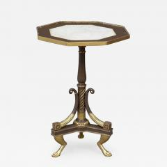 Regency Period Painted And Parcel Gilt Octagonal Table - 477622