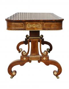 Regency Rosewood and Brass Inlaid Writing Table - 1521950