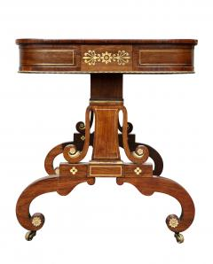 Regency Rosewood and Brass Inlaid Writing Table - 1521952