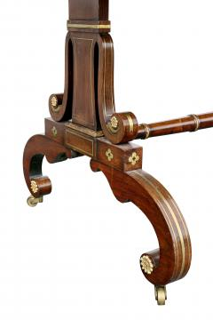 Regency Rosewood and Brass Inlaid Writing Table - 1521954