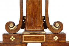 Regency Rosewood and Brass Inlaid Writing Table - 1521963