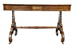 Regency Rosewood and Brass Inlaid Writing Table - 1521966