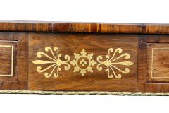Regency Rosewood and Brass Inlaid Writing Table - 1521982