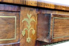 Regency Rosewood and Brass Inlaid Writing Table - 1521985