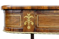 Regency Rosewood and Brass Inlaid Writing Table - 1521986