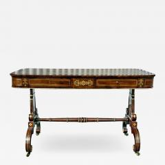 Regency Rosewood and Brass Inlaid Writing Table - 1522951