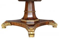 Regency Style Rosewood And Gilded Jupe Capstan Dining Table - 1558228