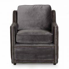 Regina Andrew Design Regina Andrew Design Modern Velvet Brass Studded Arm Chair - 1091601