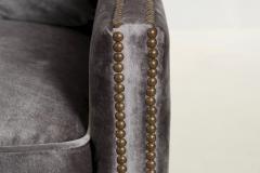 Regina Andrew Design Regina Andrew Design Modern Velvet Brass Studded Arm Chair - 1091603