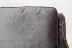 Regina Andrew Design Regina Andrew Design Modern Velvet Brass Studded Arm Chair - 1091604
