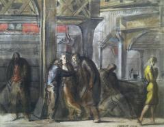 Reginald Marsh Chatham Square Under the El 1952 - 44318