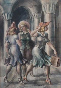 Reginald Marsh The Girls Central Park - 351506