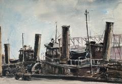 Reginald Marsh Tugboat - 1883265